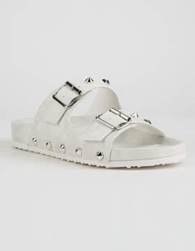 Chinese Laundry Quinn Shimmer White Womens Sandals