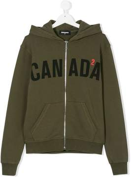 DSQUARED2 Teen Canada print hoodie