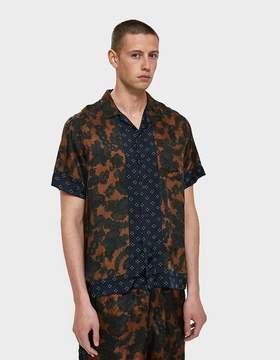 Dries Van Noten Button Down Shirt in Blue Multi