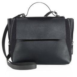 Brunello Cucinelli Side-Zip Monili & Leather Satchel