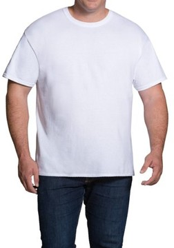Fruit of the Loom Big Men's Classic White 3 Pack Crew Neck, Extended Sizes