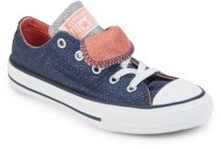 Converse Shine & Shimmer Pack Kid's Youth Double Tongue Chuck Taylor All Star Sneakers