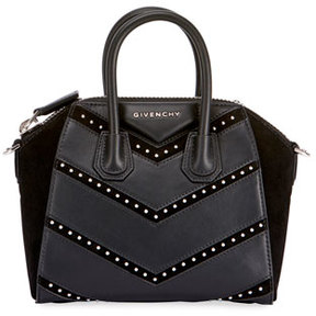 Givenchy Antigona Mini Studded Chevron Satchel Bag