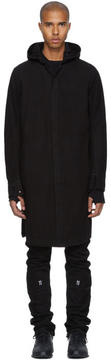 11 By Boris Bidjan Saberi Black Long Hooded Shirt
