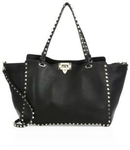 VALENTINO GARAVANI Rockstud Medium Leather Tote