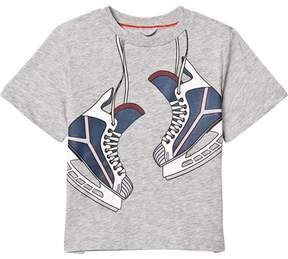 Stella McCartney Grey Skates Print Arrow Tee