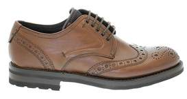 Fabi Men's Brown Leather Lace-up Shoes.