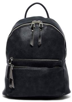 Urban Expressions Altiar 2-Zip Vegan Leather Mid Backpack
