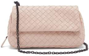 Bottega Veneta Intrecciato Leather Messenger Bag - Womens - Light Pink