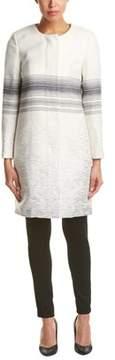 Ecru Wool-blend Coat.