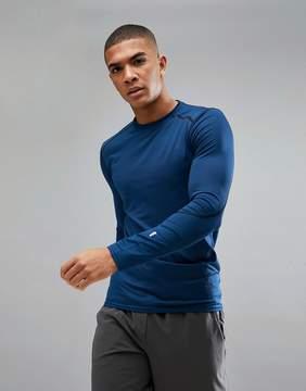 New Look SPORT Long Sleeve Top In Blue
