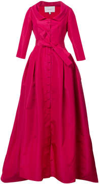 Carolina Herrera V neck neck solid faille gown
