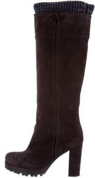 Missoni Suede Knee-High Boots