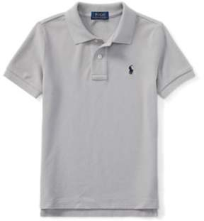 Ralph Lauren Cotton Mesh Polo Shirt Soft Grey 3T