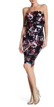 Bebe Floral Bodycon Pop Over Dress
