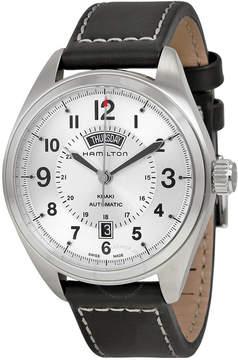 Hamilton Khaki Field Automatic Silver Dial Black Leather Men's Watch