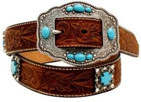 Ariat Western Belt Womens Cross Concho Stones S Medium Brown A1521644