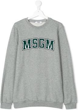MSGM logo plaque sweatshirt
