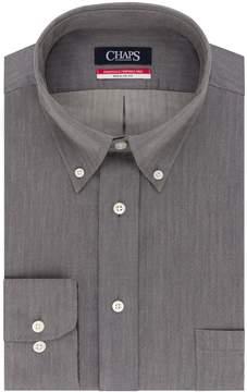 Chaps Men's Regular-Fit Wrinkle-Free Herringbone Dress Shirt