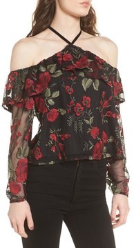 Cupcakes And Cashmere Women's Jazz Off The Shoulder Top