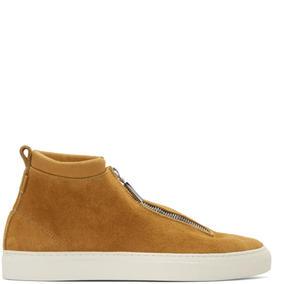 Diemme Tan Suede Fontesi High-Top Sneakers