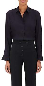 Barneys New York Women's Ruffled-Cuff Silk Shirt