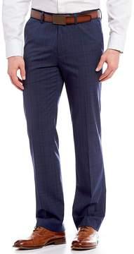 Murano Alex Flat-Front Plaid Pants