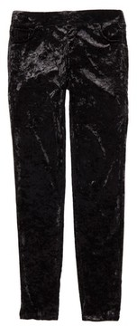 Tractr Girl's Crushed Velvet Skinny Pants