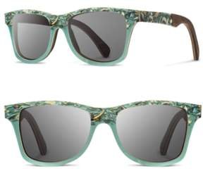 Shwood Women's 'Canby' 55Mm Polarized Seashell & Wood Sunglasses - Seashell/ Grey Polar