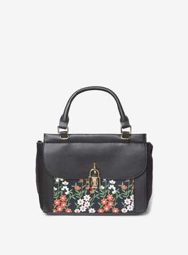 Dorothy Perkins Black Floral Embroidery Print Tote Bag