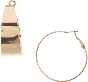 Carole Goldtone Wide Hoop Earrings