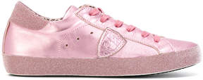 Philippe Model glitter trim sneakers