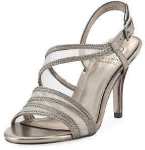 Adrianna Papell Adelphi Metallic Rope/Mesh Sandal