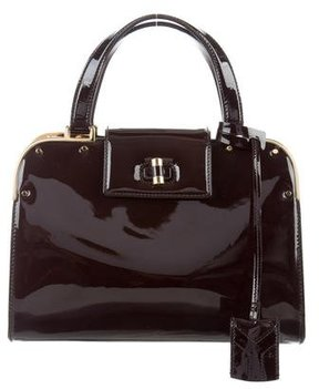 Saint Laurent Patent Leather Uptown Bag - BROWN - STYLE