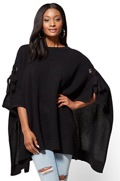 New York & Co. Lace-Up Poncho
