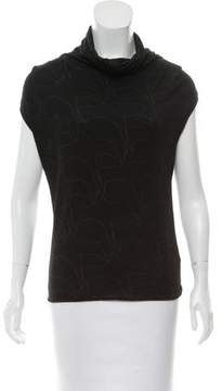 CNC Costume National Wool Abstract Top
