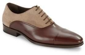 Mezlan Leather Cap Toe Dress Shoes