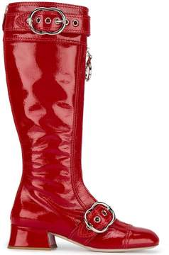 Miu Miu O-ring zipper boots