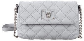 Marc Jacobs Quilted Leather Crossbody Bag - GREY - STYLE