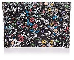 Rebecca Minkoff Leo Floral Saffiano Leather Clutch - BLACK MULTI/BLACK - STYLE