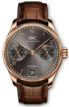 IWC Portugieser iw500702 18K Rose Gold Automatic 42.3mm Mens Watch