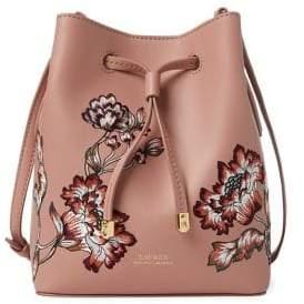 Lauren Ralph Lauren Floral Mini Drawstring Crossbody Bag