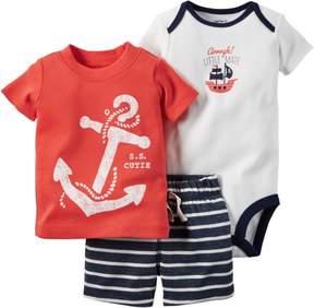 Carter's Baby Boys S.S. Cutie Bodysuit Set