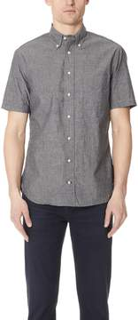 Gitman Brothers Short Sleeve Black Chambray Shirt