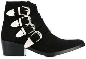 Toga Pulla multi buckle ankle boots