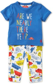 Joules Baby Boys Newborn-12 Months Zach Car Top & Car-Print Pants Set