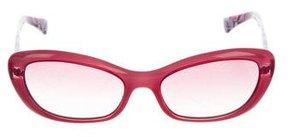 Emilio Pucci Gradient Narrow Sunglasses