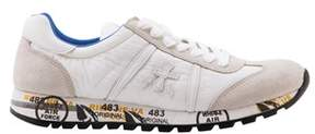Premiata Men's White Leather Sneakers.