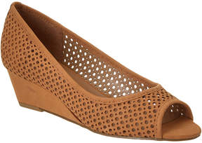 French Sole Necessary Nubuck Leather Wedge
