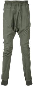 Julius loose fit drop-crotch trousers